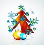 Merry Christmas tree, modern abstract geometric Stock Image