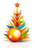 Merry Christmas tree, modern abstract geometric Royalty Free Stock Images