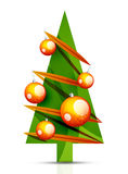Merry Christmas tree, modern abstract geometric Stock Images