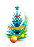 Merry Christmas tree, modern abstract geometric. Design. Holiday concept icon, greeting card element Royalty Free Stock Photography