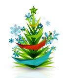 Merry Christmas tree, modern abstract geometric Stock Photos