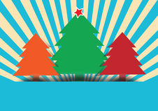 merry christmas tree on multicolor background Stock Photo
