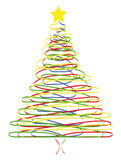 Merry Christmas tree. Object white isolated, format vector Royalty Free Stock Photos