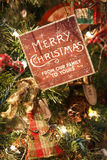 Merry Christmas tree ornament royalty free stock images