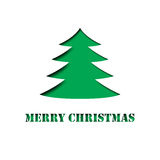 Merry Christmas Tree paper cut out Royalty Free Stock Images