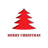 Merry Christmas Tree paper cut out Royalty Free Stock Photography