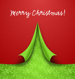 Merry Christmas Tree Shaped of Curly Paper Royalty Free Stock Image