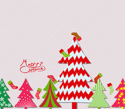 Merry Christmas tree and sock background Stock Images