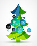 Merry Christmas tree with stickers Royalty Free Stock Image