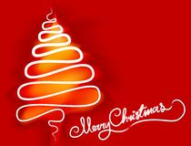 Merry Christmas tree text Stock Images