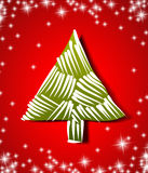 Merry christmas tree winter xmas year star decembe Royalty Free Stock Images