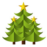 Merry christmas trees celebration. Vector illustration design Stock Images