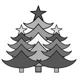 Merry christmas trees celebration. Vector illustration design Royalty Free Stock Photography