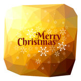 Merry Christmas triangle background snowflakes Stock Photography