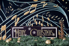 Merry Christmas Tune Royalty Free Stock Image