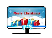 Merry Christmas TV Royalty Free Stock Photos