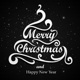 Merry Christmas Type stock illustration
