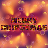Merry Christmas type Royalty Free Stock Photo
