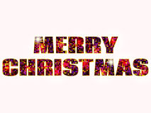 Merry Christmas type Royalty Free Stock Image