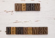 Merry Christmas in Type Set Stock Images