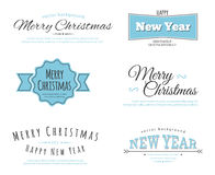 Merry Christmas type. Vector illustration of Merry Christmas type Royalty Free Stock Images