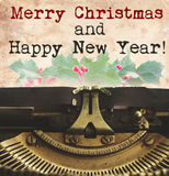 Merry Christmas typewriter Royalty Free Stock Images