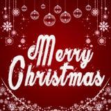 Merry Christmas. Typographic background with snowflakes. Origina Royalty Free Stock Image
