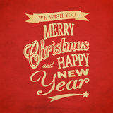Merry Christmas typographic background Royalty Free Stock Photo