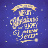 Merry Christmas typographic background Stock Photo