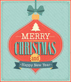 Merry Christmas typographic design. Vector illustration Stock Photography