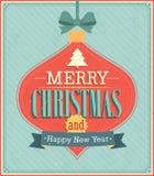 Merry Christmas typographic design. Stock Photography