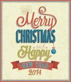 Merry Christmas typographic design. Royalty Free Stock Photos