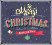 Merry Christmas typographic design. Stock Photo