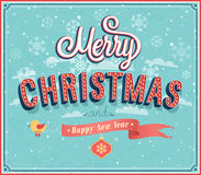 Merry Christmas typographic design. Royalty Free Stock Photography
