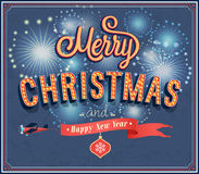 Merry Christmas typographic design. Royalty Free Stock Photos