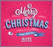 Merry Christmas typographic design. Royalty Free Stock Photo