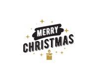 Merry Christmas typographic emblems set. Stock Image