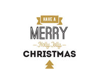 Merry Christmas typographic emblems set. Stock Images