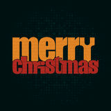 Merry Christmas typographic greeting card - Stock Images