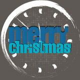 Merry Christmas typographic greeting card - Stock Photos