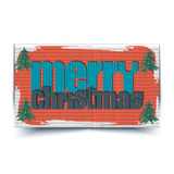 Merry Christmas typographic greeting card - Royalty Free Stock Photos