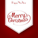 Merry Christmas typographic greeting card Royalty Free Stock Photos