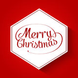 Merry Christmas typographic greeting card Stock Image