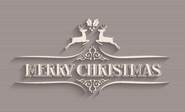 Merry Christmas typographic postcard Stock Images