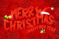 Merry Christmas Typography Background Royalty Free Stock Image