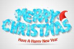 Merry Christmas Typography Background Royalty Free Stock Photography