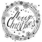 Merry Christmas Typography Banner Design Stock Photo