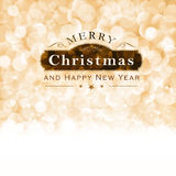 Merry Christmas typography with blinking lights Royalty Free Stock Images