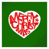 Merry christmas typography card design Royalty Free Stock Photography