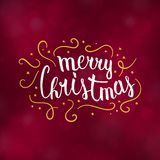 Merry Christmas typography design vector illustration. Merry Christmas typography design, Winter season greeting card, vector illustration Royalty Free Stock Photo